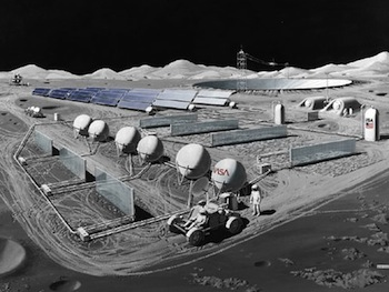 Conceptual Image of a Lunar Observatory