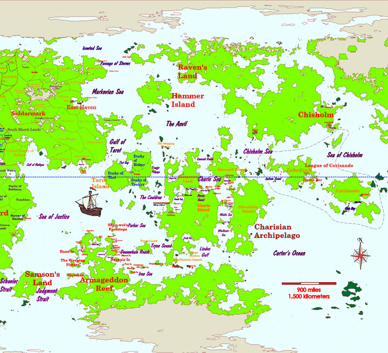 Off Armageddon Reef by David Weber - Tor Books on charis island map, dread empire map, second exit garlaige citadel map, world political map, elemental world map,