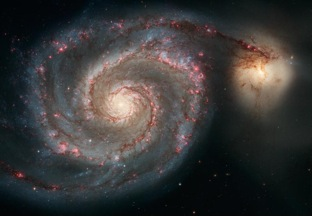 Whirlpool Galaxy and a companion galaxy